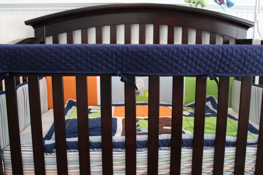 Easy DIY Crib Rail Cover